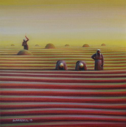 134-Süleyman Karakul 25x25 cm