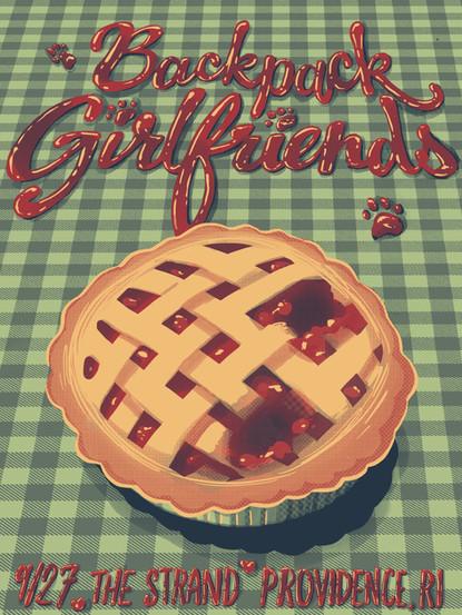 Backpack Girlfriends Gig Poster