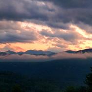 Harpscape #10: Mountain Fog at Sunset