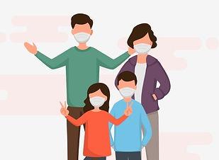 pngtree-family-wearing-medical-mask-duri