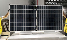 Mamibot Mysolar is presenting 166*83mm half-cut solar panels up to 445W in Shanghai, SNEC PV EXPO2020