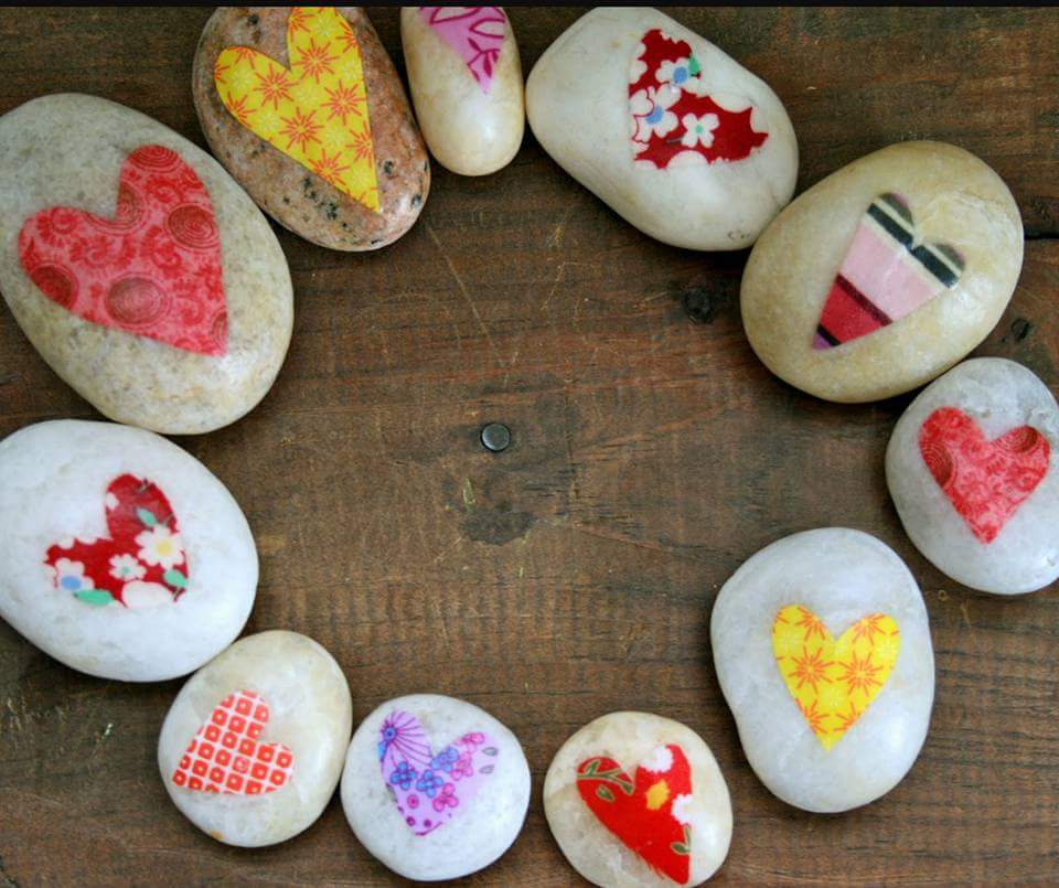 Painting Rocks For CASA
