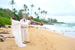 Wedding at Wailua beach.