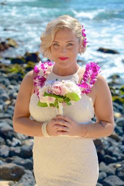 Bride at Shipwreck's beach.