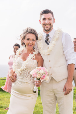 Wedding at Nukolii beach.