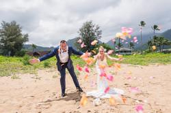 Wedding at Hanalei Bay in Kauai