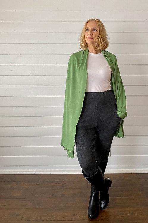 Merino Wool Scarf / Shawl in Parisian Green