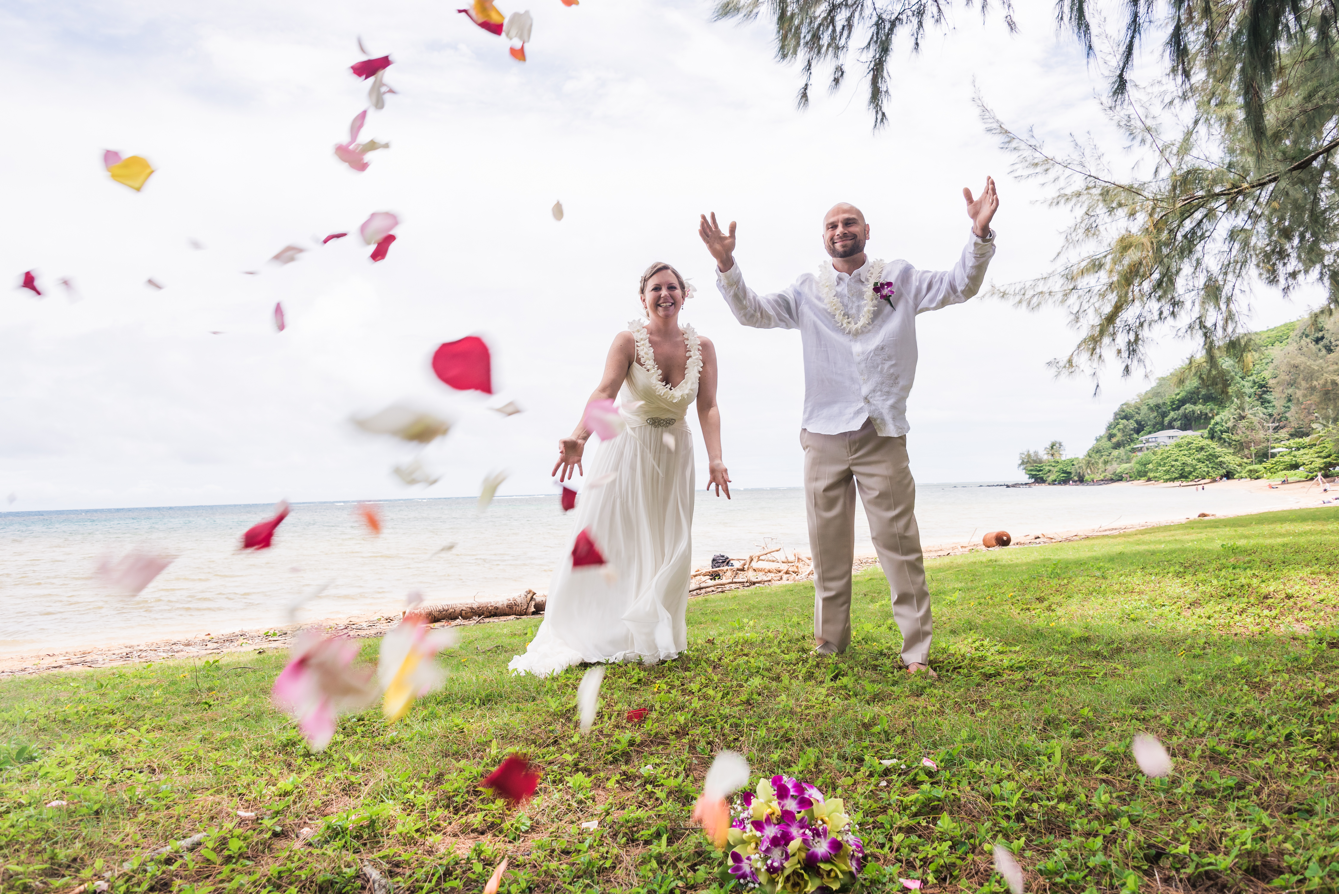 Wedding at Anini Beach.