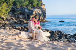 Wedding at Shipwreck's beach.