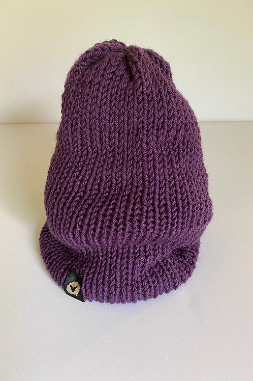 Slouchy Beanie - Purple