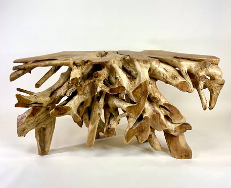 Teak Wood Root Consol Table