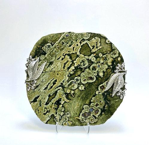 Rainforest (Rhyolite) Jasper Appetizer Tray