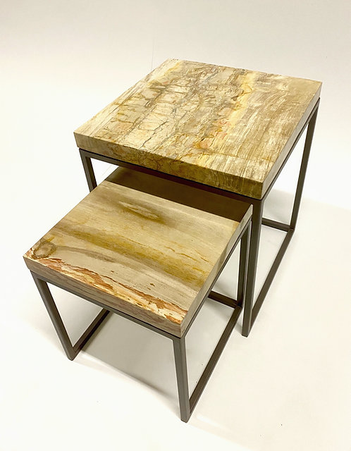 Petrified Wood Nestling Tables