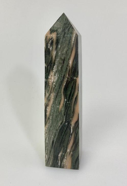 Black Calcite Obelisk - Rubanais