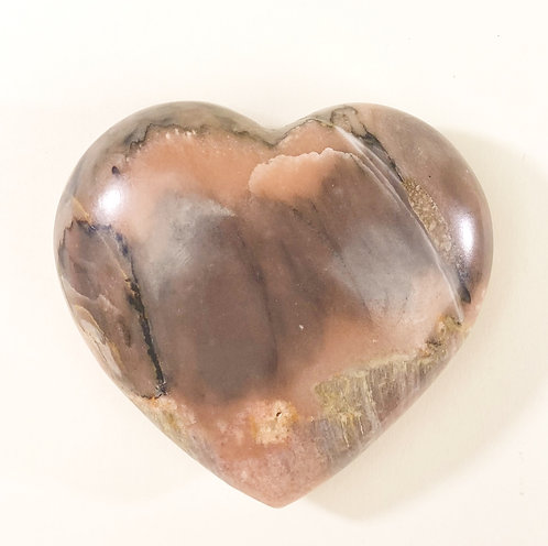 Zebra Calcite Heart