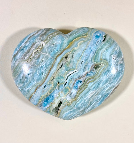Caribbean Calcite with Blue Aragonite Heart