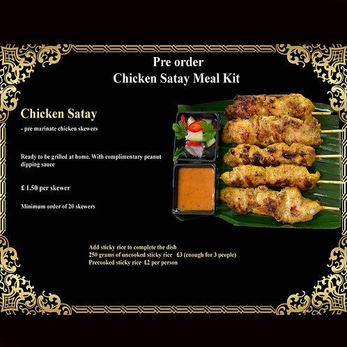Chicken Satay Meal Kit - 20 Skewers