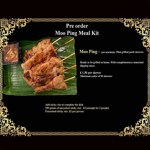 Moo Ping Meal Kit - 20 Skewers