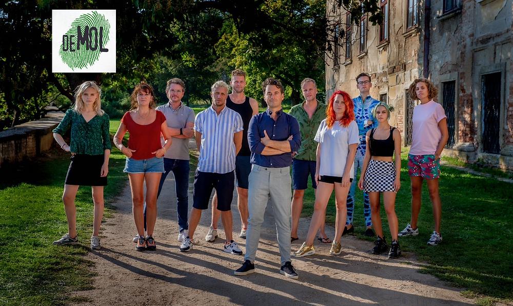 Wie is de Mole? -  first episode group of contestants Rik van de Westelaken