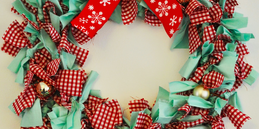 Festive Fabric Wreath Making