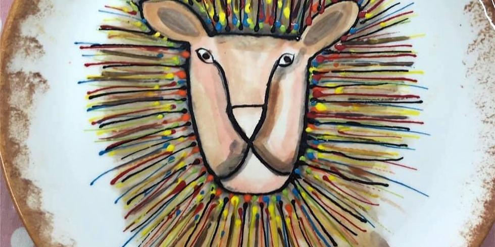 Paint a Lion Plate (1)