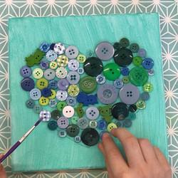 Button Art Canvas