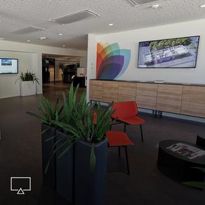 Moderne video conferentie tools en interactieve schermen