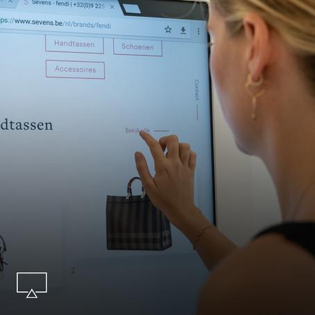 Interactief scherm maakt shoppen nog leuker