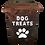 Thumbnail: Tall Dark Stained Dog Treat Box