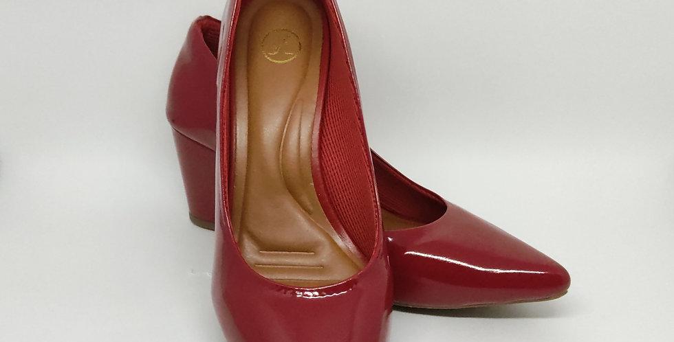 Scarpin Bloco 7cm Vermelho
