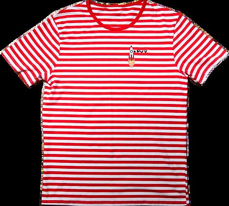 Rocket Striped Tee Red
