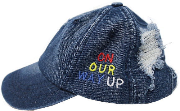 On Our Way Up Distressed Hat