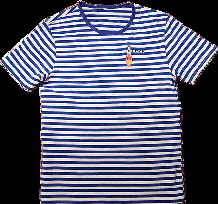 Rocket Striped Tee Blue