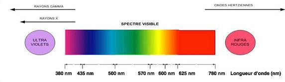 couleurs visibles par l'oeil