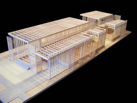 """1/2"""" = 1' Framing Model: Ribbon House"""