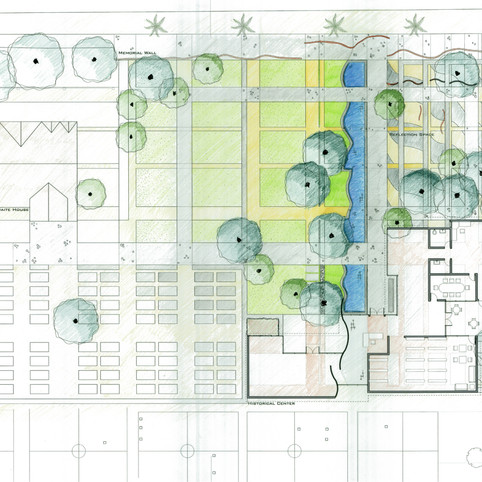 Hand Colored Site Plan