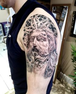 Jesus with Gothic merge