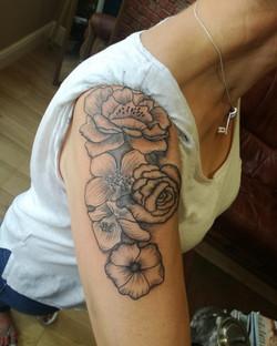 Blackwork Flowers