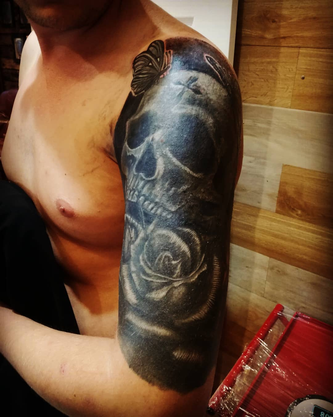 Skull and Rose Coverup