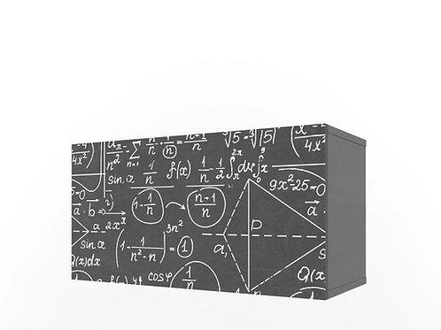 Полка Нью Тон Грей 2 куба с фасадом с фотопечатью