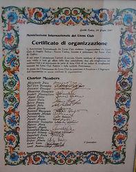 Charter del Lions Club Gualdo Tadino