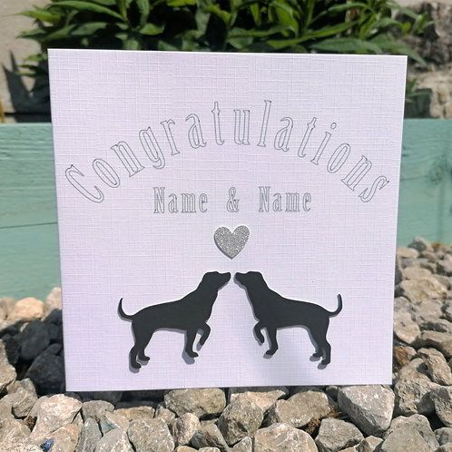 """Congratulations"" Handcrafted Greetings Card"