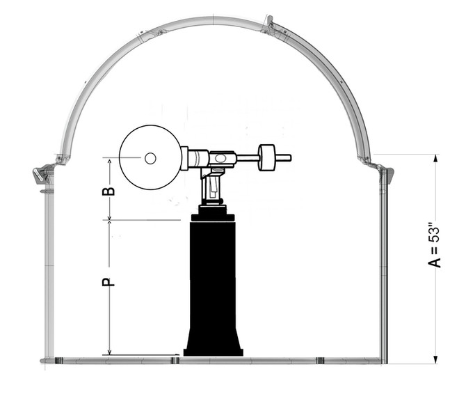 How to calculate telescope pier height