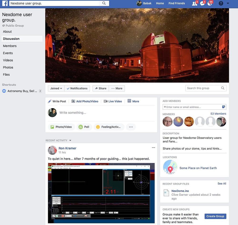 NexDome user group on Facebook