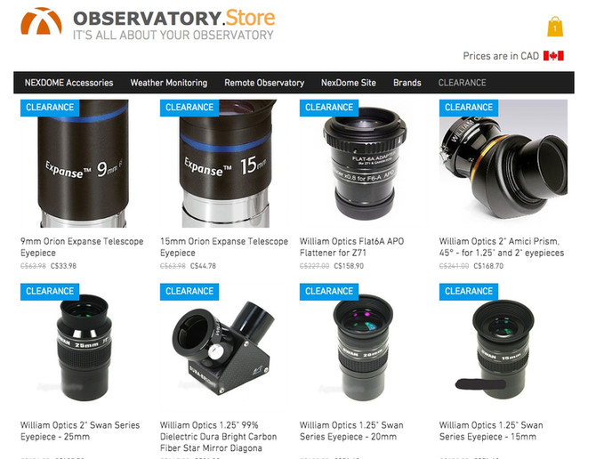 UPTO 50% OFF CLEARANCE EYEPIECES