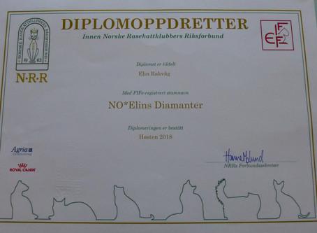 Så er vi Diplomoppdrettere!