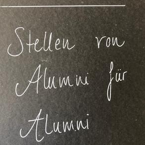 Stellen von Alumni für Alumni