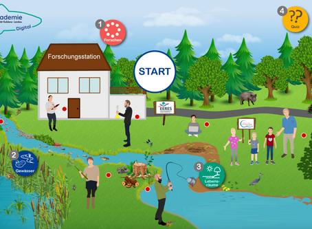 Digitale Gewässer-Akademie: Gewässer digital erforschen
