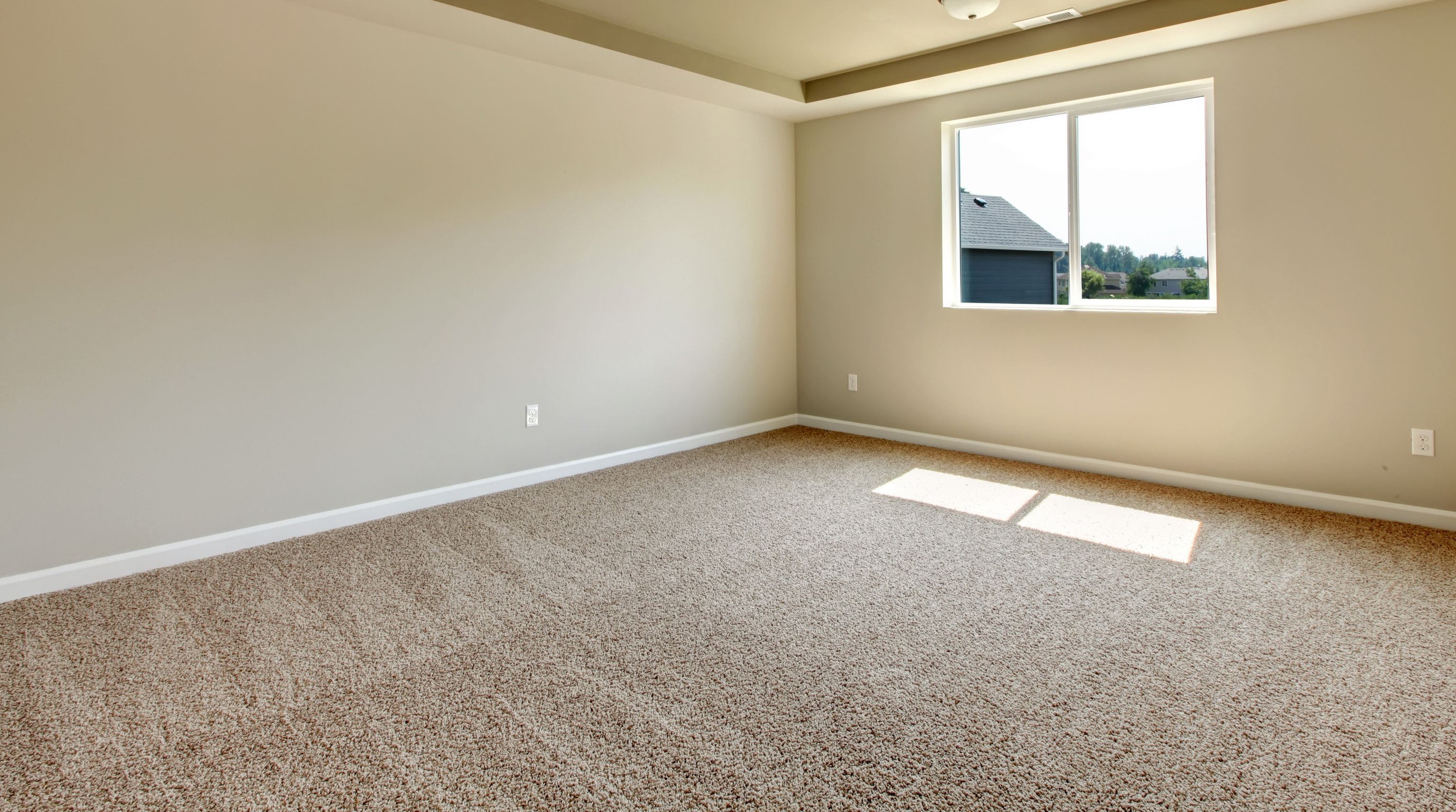 rustic empty living room carpet | Andonian's Carpet Warehouse