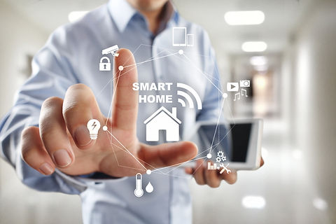Smart home automation concept on virtual